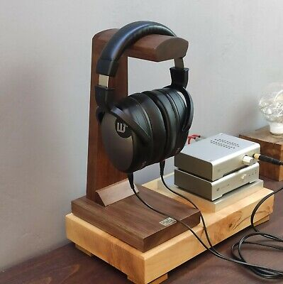 Headphone Stand Holder HeSy handmade from solid oak wood