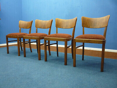 Decorative Art Deco Chairs, 1930s, Set of 4