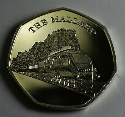 The Mallard. Iconic Steam Engine. 50P Coin Collectors. Coin Hunt. Silver Plated