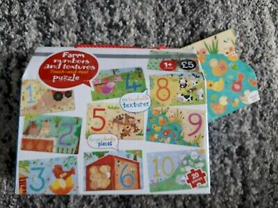 M&S Farm Numbers And Textures Touch And Feel Puzzle