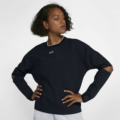 Nike Women/'s Tech Fleece Crew Felpa MEDIUM-NUOVO ~ 809537 010 Nero