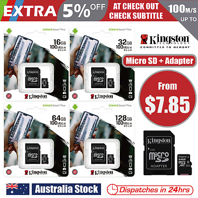 Kingston Micro SD SDHC SDXC 16GB 32GB 64GB 128GB UHS-I Class10 Memory Card Phone