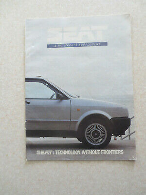 1986 SEAT automobile magazine advertising supplement booklet