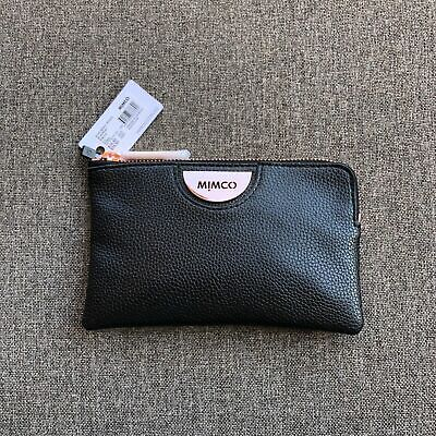 Mimco Black Gold Soft Leather Small Pouch Wallet Rrp $69.95