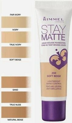 Rimmel Foundation London Stay Matte Liquid Mousse 30 ml *Choose your shade*