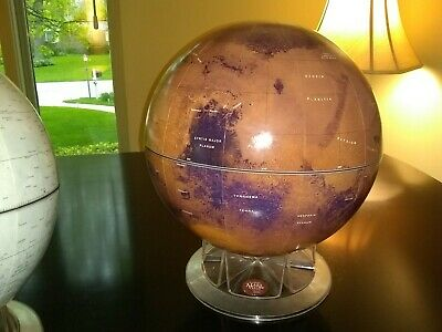 "Replogle Sky & Telescope Mars Globe 12"" 2000 Display celestial space planet euc"