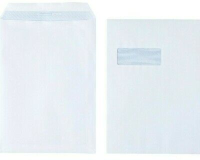 Office Depot C4 Envelopes 100gsm White Window Peel & seal Box of 250