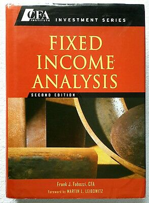 Fixed Income Analysis CFA Institute Investment Series by Frank J. Fabozzi