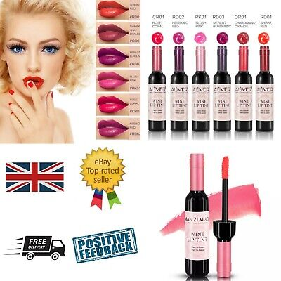 Box of 24 wine bottle lip tint / stain / balm gloss lipstick lips UK