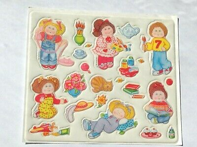 "VINTAGE CABBAGE PATCH KIDS PUFFY STICKERS ""This is My House"" 1984"