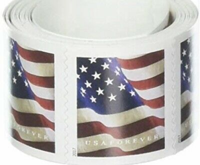 1100 (11 Rolls of 100) USPS FOREVER STAMPS US FLAG COIL FIRST CLASS Ships 05/31
