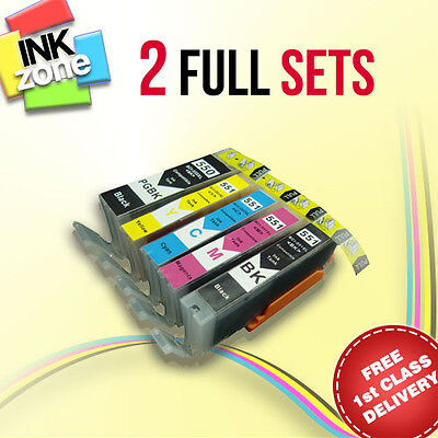 2 Full Sets of non-OEM Inks for CANON MG5450 MG5550 MG5650 MG6350 MG6450 MG6550