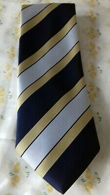 "Wartime 1940's WW11 Style Blue & Yellow Men's ""Spiv"" Vintage Silky Tie"