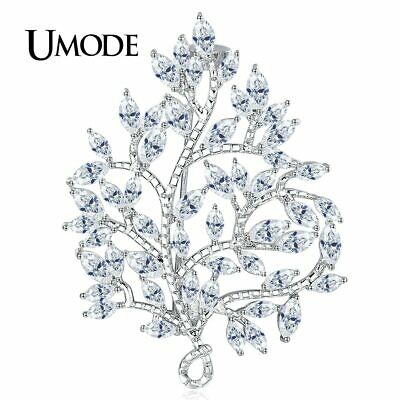 UMODE Large Vintage Maple Leaf Brooch Pin Plant Costume Jewelry For Women Wed…
