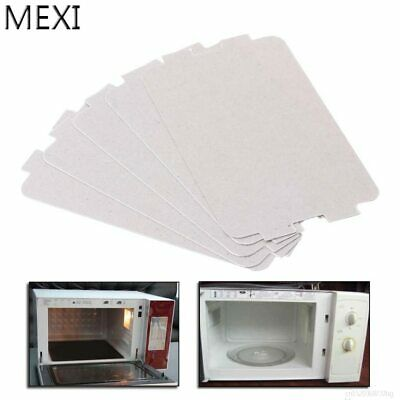 MEXI 5Pcs Microwave Oven Mica Plate Sheet Thick Replacement Part 107x64mm For…