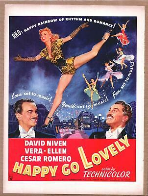 Original Print Ad 1951 Movie Happy Go Lovely David Niven Technicolor Romero Advertising-print Merchandise & Memorabilia