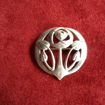 Sterling Silver Kit Heath Arts & Crafts Style Pin/ Brooch (marked KH95)