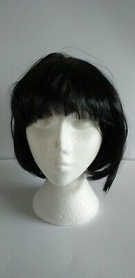 Womens Ladies Black Short Bob Wig Fancy Dress Cosplay Wigs Pop Party Costume