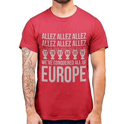 Liverpool Champions Winners 2019 Madrid Allez T Shirt Football Never GAVE Up