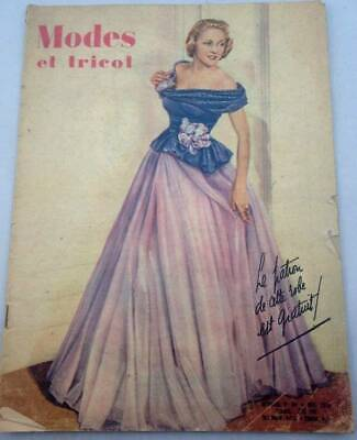 Vintage Mode et Tricot French Magazine Fashion Sewing Knitting 1956