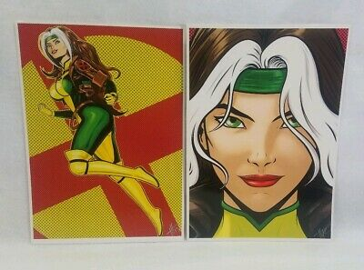 ROGUE MARVEL X-MEN 14x20 COLORED LARGE PRINT TERRY HUDDLESTON AVENGERS