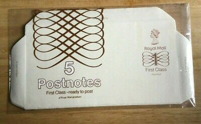 Great Britain Royal Mail First Class Postnotes, pack of 5