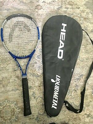 Head Liquidmetal 4 Tennis Racket With Case Used, 4 1/4 Mid Plus Free Shipping