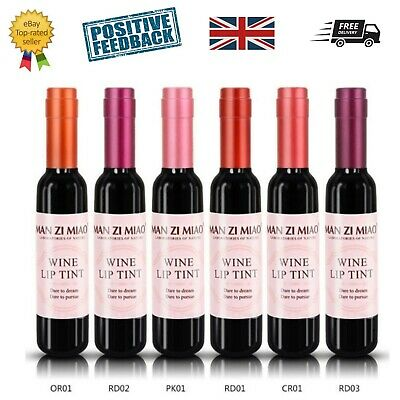 Set of 6 Novelty wine bottle lip tint / stain / balm gloss lipstick lips UK