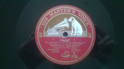 """His Masters Voice """"Ballet"""" Symphony Orchestra conducted by Henri Busser"""