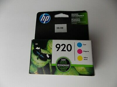 Genuine HP 920 combo pack w/ paper Ink cartridge NEW sealed expired april-2019