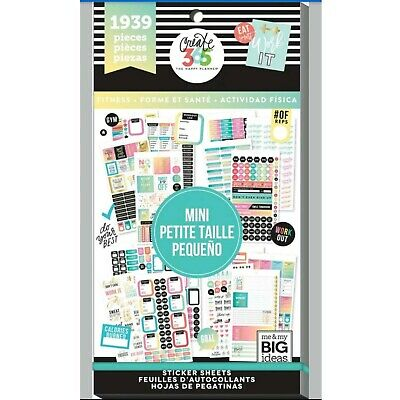 Me & My Big Ideas The Happy Planner Stickers Work It 1939 pcs PPSV-36-3048