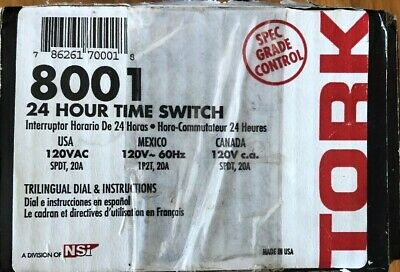 Tork 8001 24-Hour Time Switch
