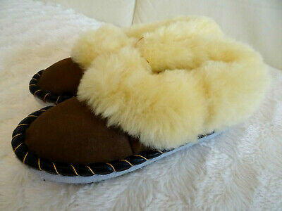 Sheepskin Moccasins Slippers, Genuine Winter Casual Slip-on Handmade in Poland