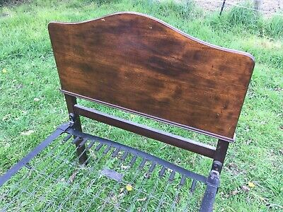 1920's Edwardian Vintage Single Bed Frame. Mahogany Head and Foot Boards.