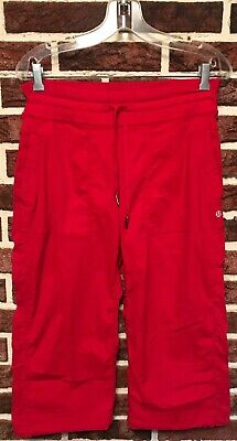 9627007ffc LULULEMON Pants DANCE STUDIO CROP Red Currant Sz 10 Capri NO LINER Athletic  YOGA