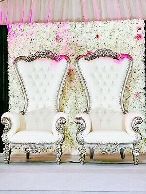 Remarkable Wedding Sofa Love Seat Throne Chair In Silver White His Gmtry Best Dining Table And Chair Ideas Images Gmtryco