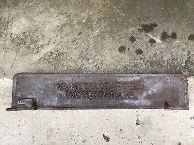 Vintage Virginia Metalcrafters Cast Iron Industrial Furnace Door