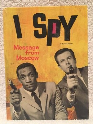 High Grade 1966 I SPY Whitman Book HC Message from Moscow Keith Cosby TV Edition
