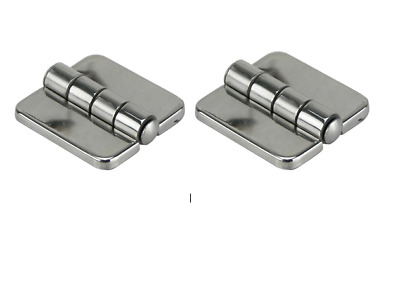 2 x Stainless Steel Hinges With Covers to Conceal Screws, Marine Hinges. 1 Pair
