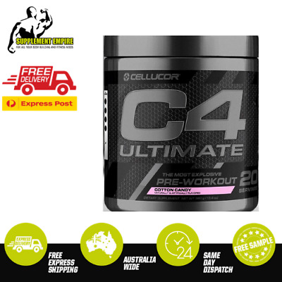 Cellucor C4 ULTIMATE Flavour COTTON CANDY Pre Workout Preworkout 20 serves