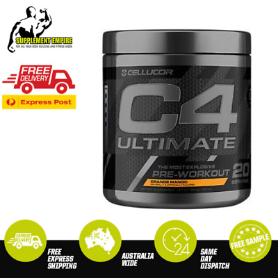 Cellucor C4 ULTIMATE Flavour ORANGE MANGO Pre Workout Preworkout 20 serves