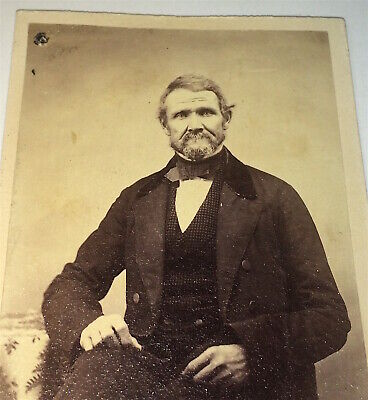 Antique Victorian American Civil War Era Fashion Old Man CDV Photo! C.1860's US!