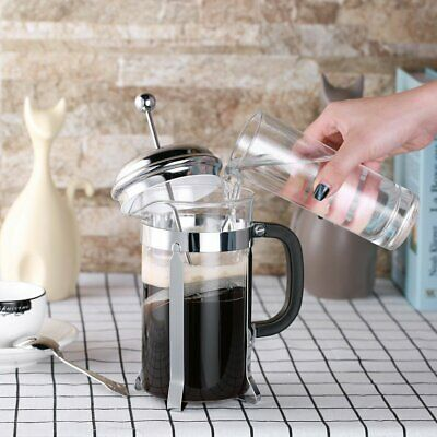 Classic French Press Coffee Maker Leaf Tea Carafe Stainless Steel Filter 1L MY