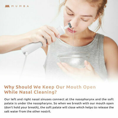 Mumba Portable Nose Cleaner Nasal Irrigation Gentle Nose Wash Rinse Healthy Kit