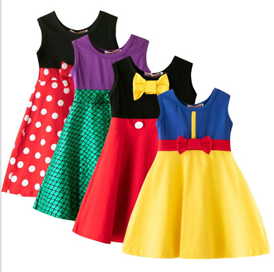 Princess Dress Girls Sleeveless Party Dress Kids Baby Dresses Cosplay Costume
