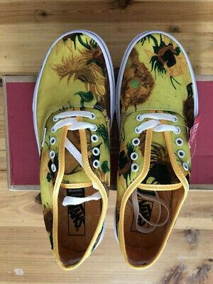 577f00aacb525 VANS VINCENT VAN Gogh Sunflowers Lace Up Casual Sneakers Multi Size ...
