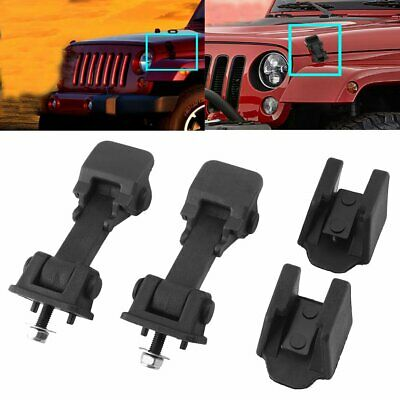 Pair Front Hood Latch Catch /& Bracket for Jeep Wrangler TJ 97-06 Free Shipping