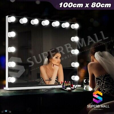 Hollywood Makeup Mirror Tabletop Beauty Vanity Frameless Mirror 15 LED Lights