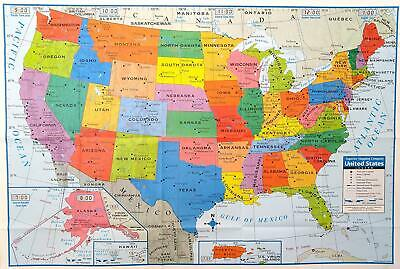 KAPPA UNITED STATES Wall Map USA Poster, Home/School/Office ...
