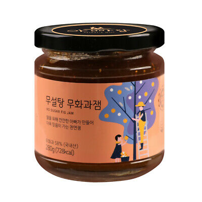 Korean natural Sugar free Fig Jam Jar Preserve grain syrup Spread 9.8oz 무화과잼